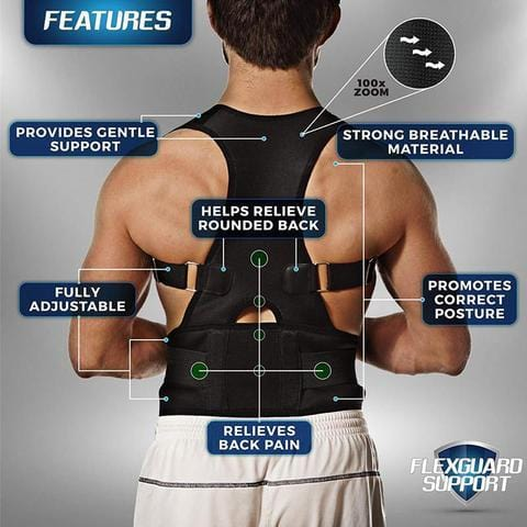 63% OFF Back Brace Posture Corrector | Best Fully Adjustable Support Brace | Improves Posture and Provides Lumbar Support | For Lower and Upper Back Pain | Men and Women