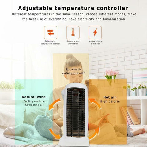 Image of Mini Electric Heater Portable Space Home Office Winter Warmer Fan Air Heater New