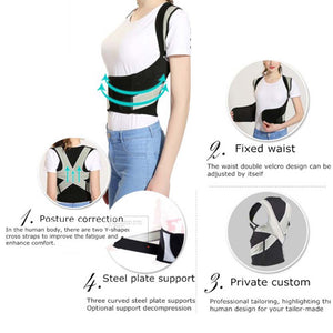 Women Back Posture Corrector Therapy Corset Spine Support