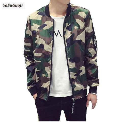 Image of New 2019 fashion camouflage thin jacket men military style bomber jacket men veste homme men's clothing plus size m-5xl /JK14