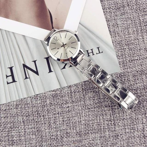 Image of 2019 New Fashion Faux Chronograph Plated Classic Geneva Quartz Ladies Watch Women Crystals Wristwatches Relogio Feminino