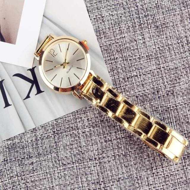 2019 New Fashion Faux Chronograph Plated Classic Geneva Quartz Ladies Watch Women Crystals Wristwatches Relogio Feminino