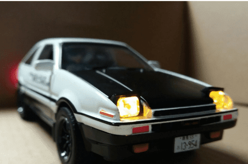 INITIAL D Toyota AE86 Model Alloy Simulation Pendulum Sound-light Door Cars - TheAnimeSupply