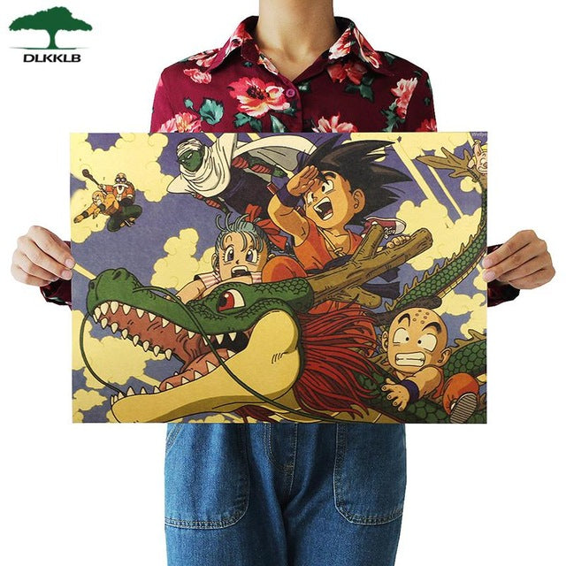 Vintage Dragon Ball Kid Goku Poster