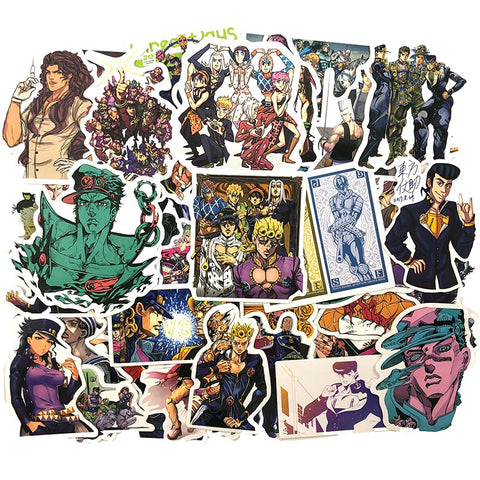 Jojo's Bizarre Adventure Stickers 50pcs