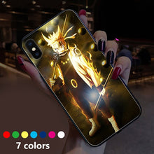 Load image into Gallery viewer, Light Up Led Naruto iPhone Cases