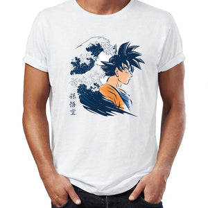 The Great Wave Dragon Ball Goku T Shirt