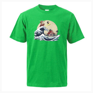 The Great Wave Dragon Ball T-Shirt