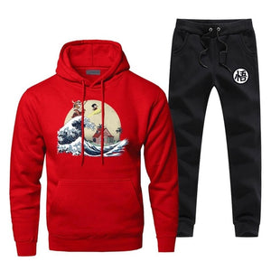 The Great Wave Dragon Ball Hoodie and Pants Set