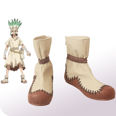Dr Stone Senku Boots Shoes Cosplay