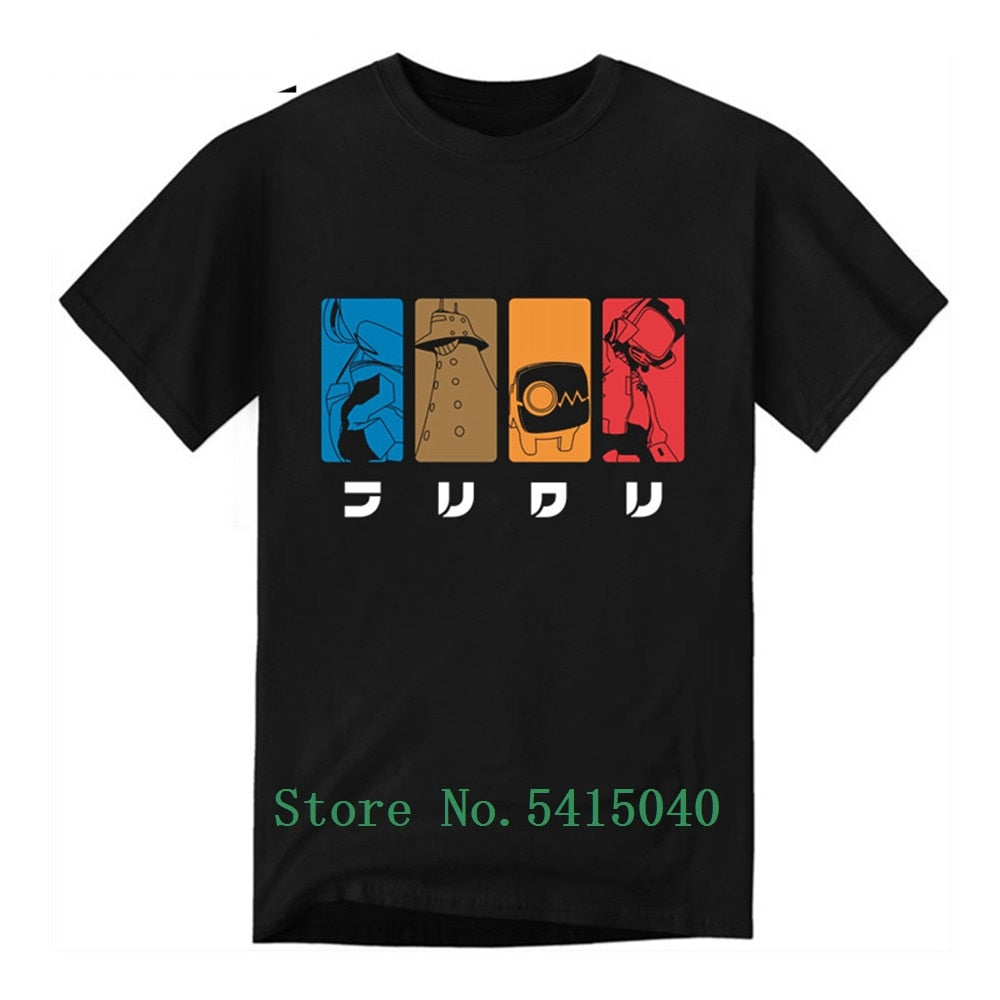 Black FLCL Fooly Cooly T-Shirt