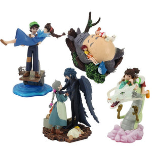 Ghibli Figure Set (4pcs/set or 5pcs/set): Totoro + Spirited Away + Castle in the Sky + Howl's Moving Castle + Kiki's Delivery Service