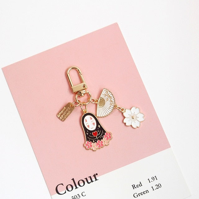 Ghibli Spirited Away Keychain (Gold Color)