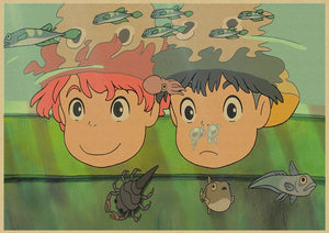 Ponyo on The Cliff Posters Home Decor Wallpapers
