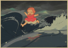 Load image into Gallery viewer, Ponyo on The Cliff Posters Home Decor Wallpapers