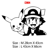 Load image into Gallery viewer, Pokemon Black Wall Stickers
