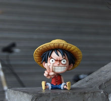 Load image into Gallery viewer, One Piece Funny Faces Action Figures Featuring Luffy Ace Zoro Sanji Nami