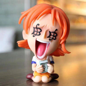 One Piece Funny Faces Action Figures Featuring Luffy Ace Zoro Sanji Nami