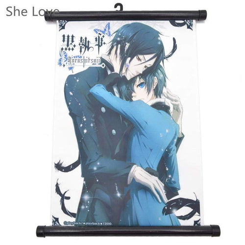 Anime Black Butler Painting Hanging Wall Scroll - TheAnimeSupply