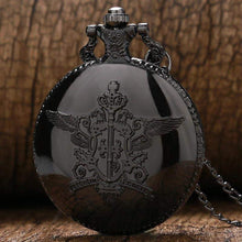 Load image into Gallery viewer, Black Butler Sebastian Theme Quartz Pendant Pocket Watch With Necklace Chain - TheAnimeSupply
