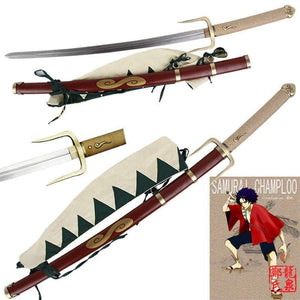 Anime Samurai Champloo Mugen's Typhoon Swell Katana Sword - TheAnimeSupply