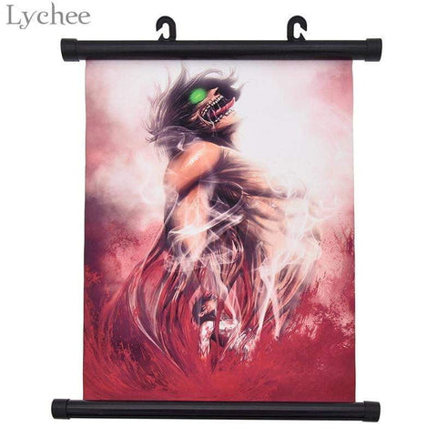 Japanese Anime Attack on Titan Poster Canvas Scroll Painting Wall Poster - TheAnimeSupply