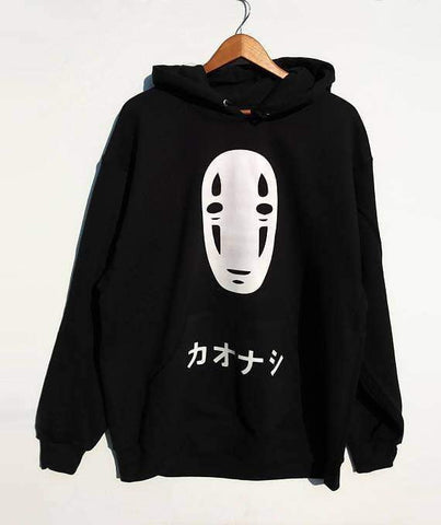 No Face Oversized Spirited Away Hoodie - TheAnimeSupply