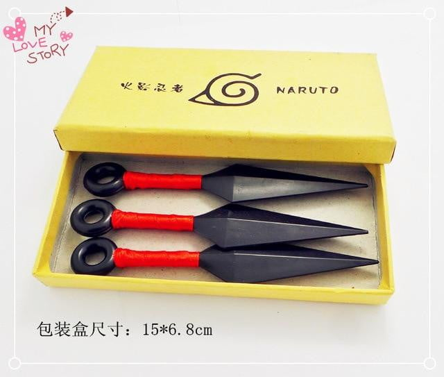 3pc/Set Naruto Kunai Cosplay PVC