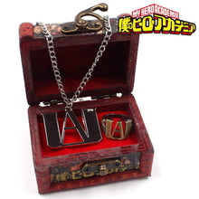 Load image into Gallery viewer, 2PCS Anime My Hero Academia Metal Necklace Ring Pendant Box - TheAnimeSupply