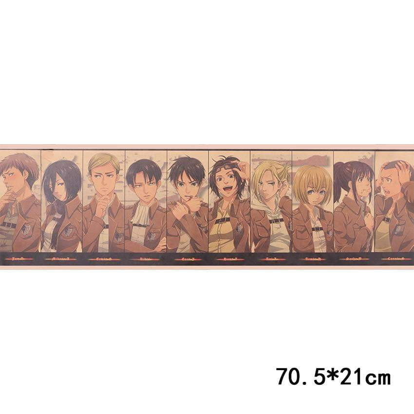 Attack on Titan Character Collection Poster - TheAnimeSupply