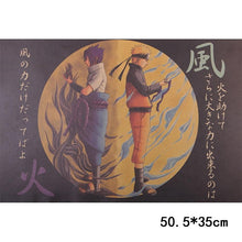 Load image into Gallery viewer, Naruto Vintage Kraft Paper Poster Wall Sticker 50.5X35cm