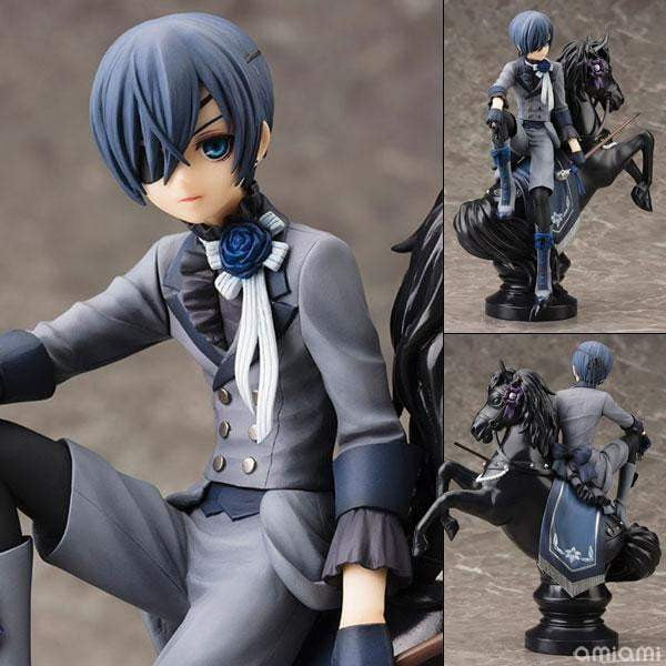 Black Butler Book of Circus Kuroshitsuji Ciel PVC Action Figure Collectible Model 18cm - TheAnimeSupply
