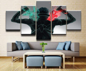 Sword Art Online Kirito Sword 5 piece Canvas Wall Art - TheAnimeSupply