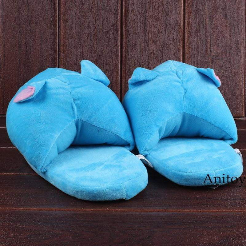 Anime Fairy Tail Happy Cat Adult Plush Slippers Winter Indoor Warm Unisex - TheAnimeSupply