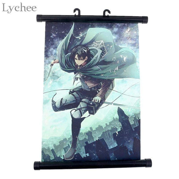 Japan Anime Attack on Titan Wall Scroll Painting Canvas Poster - TheAnimeSupply