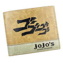 Load image into Gallery viewer, JOJO Bizarre Adventure Leather Wallets Anime - TheAnimeSupply
