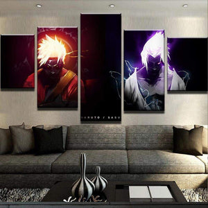 5 piece anime Naruto Canvas Art - TheAnimeSupply