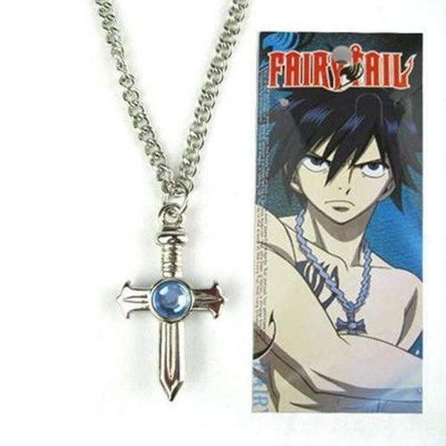 Anime Fairy Tail Gray Fullbuster cosplay Cross Necklace pendant - TheAnimeSupply