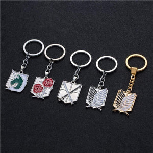 Anime keychain Attack on Titans badge pendant necklace - TheAnimeSupply