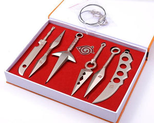 7 PCS/Set Naruto Shippuden Ninja Metal Tools