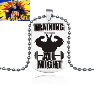 My Hero Academia Necklace All Might Pendant Keychain Anime - TheAnimeSupply