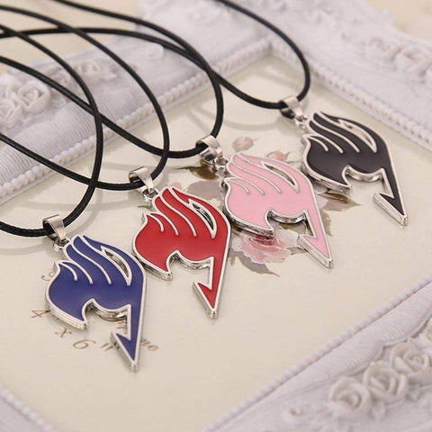 Alloy Fairy Tail Guild Sign Pendant Necklace 5 Colors - TheAnimeSupply