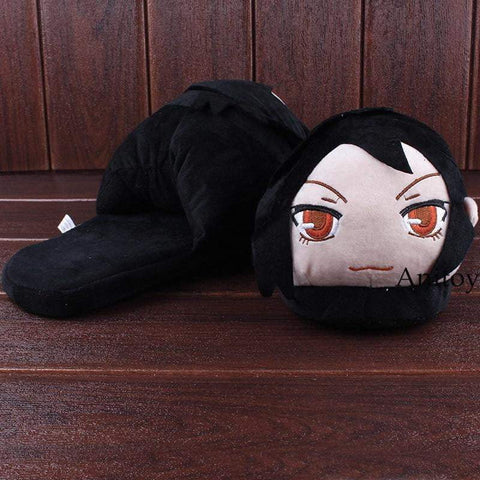 Anime Black Butler Sebastian Michaelis Adult Plush Slippers - TheAnimeSupply