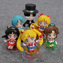 Load image into Gallery viewer, Sailor Moon Figure/Keychain 6pcs/set