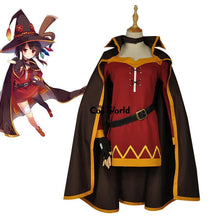 Load image into Gallery viewer, KonoSuba Megumin Cloak Dress Cosplay