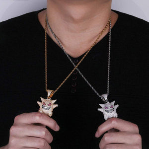 Jewelry Mask Gengar Necklace Pokemon Pendant - TheAnimeSupply