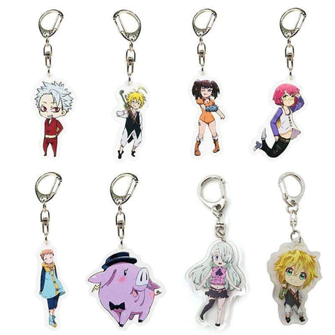 The Seven Deadly Sins 8 Styles Acrylic Keychain - TheAnimeSupply