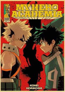 Anime My Hero Academia Retro Posters Wall Stickers - TheAnimeSupply