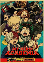Load image into Gallery viewer, Anime My Hero Academia Retro Posters Wall Stickers - TheAnimeSupply