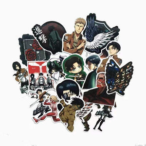 42Pcs/lot Japanese Anime Attack on titan Mikasa Levi Eren Stickers - TheAnimeSupply